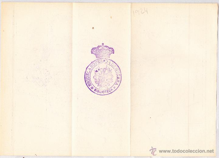 Mapas contemporáneos: MAPA DE GUADALAJARA CON SELLO BIBLIOTECA ESCUELA SUPERIOR DE GUERRA AÑO 1924. - Foto 2 - 46032008