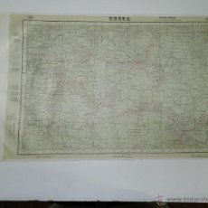Mapas contemporâneos: MAPA ENTELADO DE CHECA (GUADALAJARA), FORMADO Y PUBLICADO POR LA DIRECCION GENERAL DEL INSTITUTO GEO. Lote 46186387