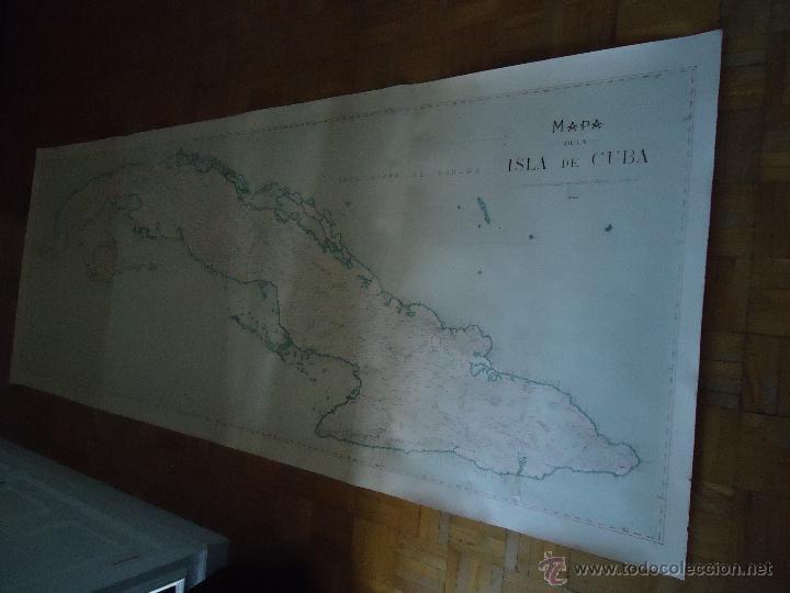 Espectacular Mapa De La Isla De Cuba  U00a1 U00a1 U00a10 94x2