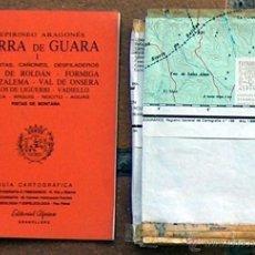 Mapas contemporáneos: GUIA CARTOGRAFICA ALPINA MAPA SIERRA DE GUARA I GARGANTAS CAÑONES DESFILADEROS ROLDAN FORMIGA ONSERA. Lote 293721208