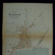 Mapas contemporáneos: PLANO DE ALMERIA. ALBERTO MARTÍN EDITOR-BARCELONA. 1915. Lote 46383927