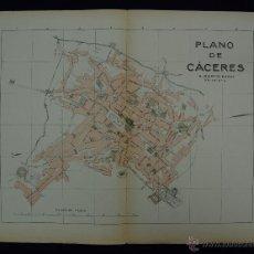 Mapas contemporáneos: PLANO DE CACERES. ALBERTO MARTÍN EDITOR-BARCELONA. 1915. Lote 46384060