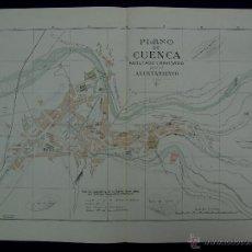 Mapas contemporáneos: PLANO DE CUENCA. ALBERTO MARTÍN EDITOR-BARCELONA. 1915. Lote 46384159