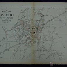 Mapas contemporáneos: PLANO DE OVIEDO. ALBERTO MARTÍN EDITOR-BARCELONA. 1915. Lote 46384377
