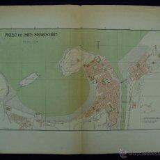 Mapas contemporáneos: PLANO DE SAN SEBASTIAN. ALBERTO MARTÍN EDITOR-BARCELONA. 1915. Lote 46384454