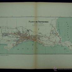 Mapas contemporáneos: PLANO DE SANTANDER. ALBERTO MARTÍN EDITOR-BARCELONA. 1915. Lote 46384471
