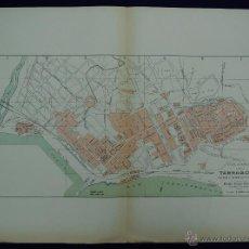 Mapas contemporáneos: PLANO DE TARRAGONA. ALBERTO MARTÍN EDITOR-BARCELONA. 1915. Lote 46384519