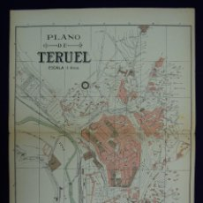 Mapas contemporáneos: PLANO DE TERUEL. ALBERTO MARTÍN EDITOR-BARCELONA. 1915. Lote 46384535