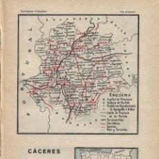 Mapas contemporáneos: MAPA CÁCERES ( AL REVERSO CÁDIZ) - 1925. Lote 46437846