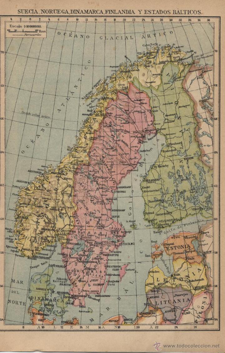 mapa suecia noruega dinamarca finlandia y es  Comprar Mapas