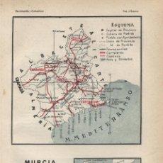 Mapas contemporáneos: MAPA: MURCIA ( REVERSO NAVARRA ) - 1925. Lote 46597133