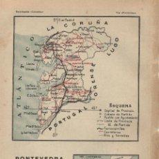 Mapas contemporáneos: MAPA: PONTEVEDRA ( REVERSO TIERRAS POLARES, POLO )- 1925. Lote 46597315