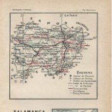 Mapas contemporáneos: MAPA: SALAMANCA - 1925. Lote 46597329