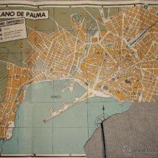 Mapas contemporáneos: ANTIGUO PLANO DE PALMA DE MALLORCA. CON PUBLICIDAD. EN ALEMÁN. MUY CURIOSO. -DOCC-. Lote 46632438