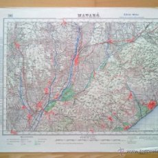 Mapas contemporâneos: PLANO MATARO EDICION MILITAR E. 1:50.000 EDICION 1951 50 X 70 CM (APROX) . Lote 46662867