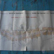Mapas contemporáneos: PROYECTO DE REFORMA DE LA CALLE PRECIADOS, CALLAO Y ALCALA - MADRID - 1904 - ESCALA 1: 1000 - 150 CM. Lote 46883051