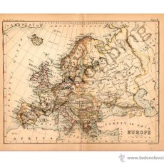Mapas contemporáneos: EUROPE - MAP EDITED IN THE 19TH CENTURY BY J.BARTHOLOMEW, EDIN.R. Lote 46931293