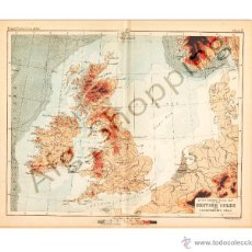 Mapas contemporáneos: BRITISH ISLES AND SURROUNDING SEAS - MAP EDITED IN THE 19TH CENTURY BY J.BARTHOLOMEW, EDIN.R. Lote 46931296