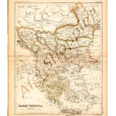 Mapas contemporáneos: BALKAN PENINSULA - MAP EDITED IN THE 19TH CENTURY BY J.BARTHOLOMEW, EDIN.R. Lote 46931421