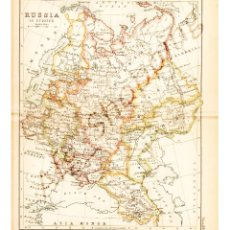 Mapas contemporáneos: RUSSIA IN EUROPE - MAP EDITED IN THE 19TH CENTURY BY J.BARTHOLOMEW, EDIN.R. Lote 46931426