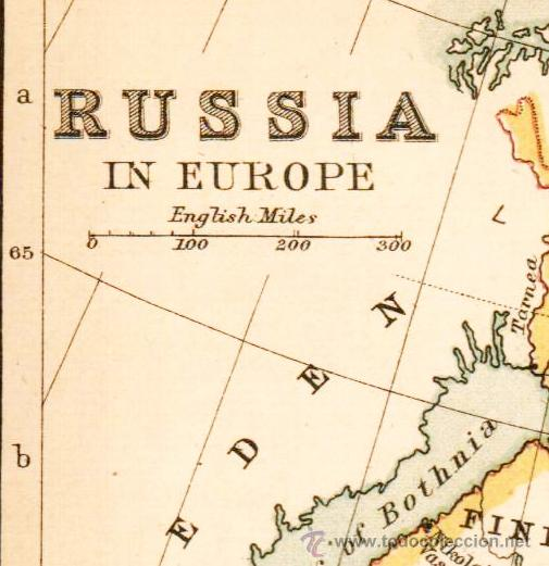 Mapas contemporáneos: RUSSIA IN EUROPE - MAP edited in the 19th century BY J.Bartholomew, Edin.r - Foto 2 - 46931426