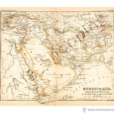 Mapas contemporáneos: MAP. EDITED IN THE 19TH CENTURY BY J.BARTHOL - TURKEY IN ASIA, PERSIA, AFGHANISTAN, AND BALUCHISTAN. Lote 46931435