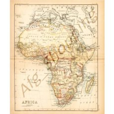 Mapas contemporáneos: AFRICA - MAP EDITED IN THE 19TH CENTURY BY J.BARTHOLOMEW, EDIN.R. Lote 46931468