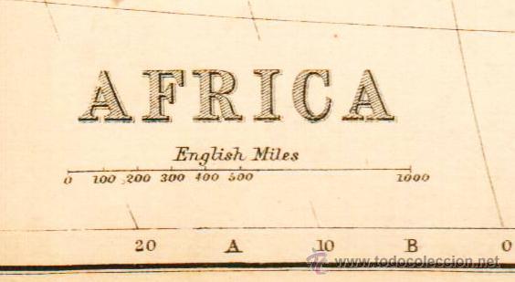 Mapas contemporáneos: AFRICA - MAP edited in the 19th century BY J.Bartholomew, Edin.r - Foto 2 - 46931468