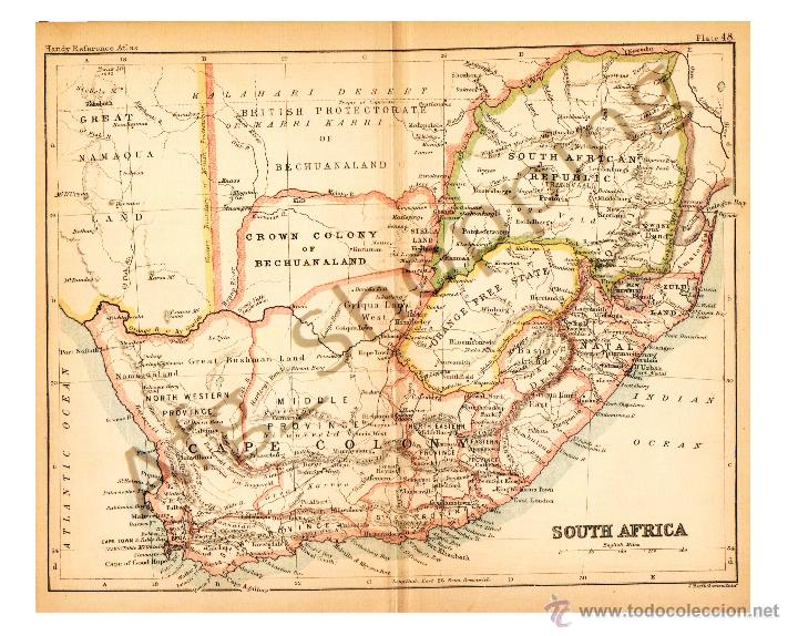 19th Century Africa Map.South Africa Map Edited In The 19th Century B Buy Contemporary