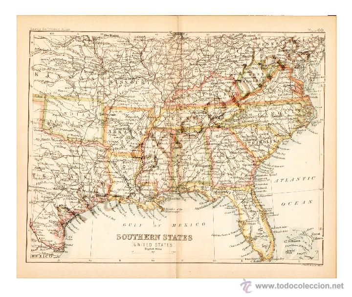 southern states ( united states - map edited in - Kaufen ...