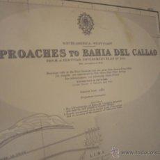 Mapas contemporáneos: SOUTH AMERICA - WEST COAST. APPROACHES TO BAHÍA DE CALLAO AND PUERTO DEL CALLAO. Lote 42986131