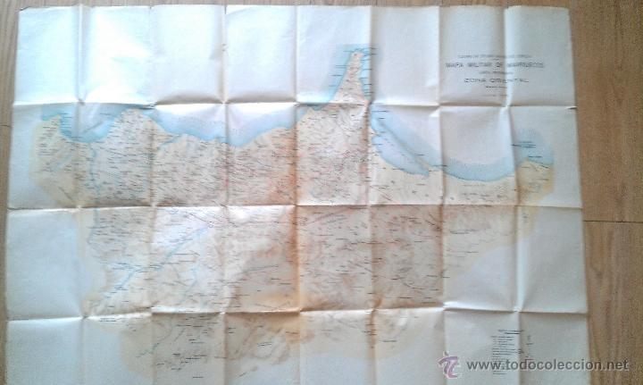 1925 GUERRA DE AFRICA MAPA MILITAR DE MARRUECOS ZONA ORIENTAL CARTA PROVISIONAL 110 X 80 CM. (Coleccionismo - Mapas - Mapas actuales (desde siglo XIX))
