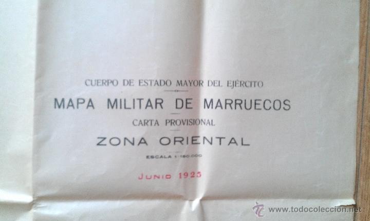 Mapas contemporáneos: 1925 GUERRA DE AFRICA MAPA MILITAR DE MARRUECOS ZONA ORIENTAL CARTA PROVISIONAL 110 X 80 CM. - Foto 2 - 47030066