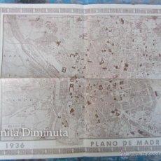 Mapas contemporáneos: ANTIGUO PLANO DE MADRID - AÑO 1936 - ORIGINAL - 40 X 32 CM - . Lote 47065208