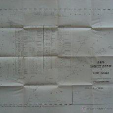 Mapas contemporáneos: 'MAPA SINOPTICO MILITAR DE LOS PUERTOS ESPAÑOLES' FAUSTO GOSALVEZ GOMEZ. 63X75CM. ¡¡RARO!!. Lote 47144321