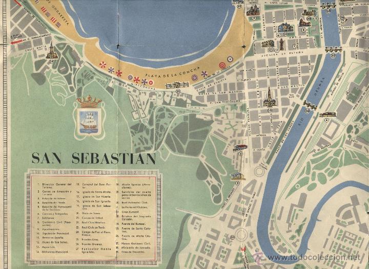 Plano Turistico De San Sebastian Sold Through Direct Sale 47183247