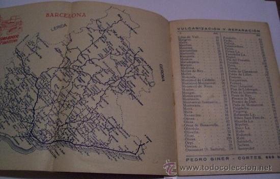 Mapas contemporáneos: distancia en km desde esta capital a las poblaciones de cataluña, mapa de cada provincia... - Foto 3 - 27391806