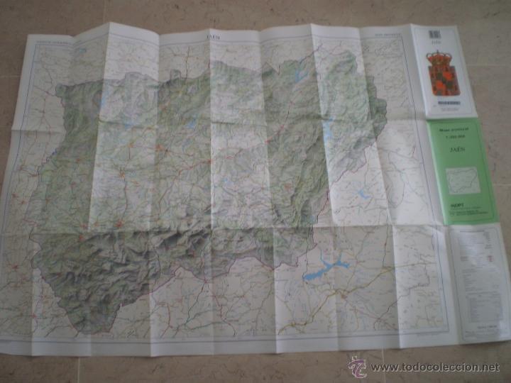 Mapas contemporáneos: JAEN - MAPA PROVINCIAL 1:200000 - MOPT - Foto 2 - 47547280