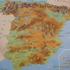 Mapas contemporáneos: ANTIGUO MAPA ESCOLAR DE ESPAÑA. Lote 204656907