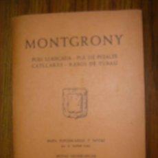 Mapas contemporáneos: MAPA DE MONTAÑISMO DE MONTGRONY, PUIG LLANÇADA-PLA DE PUJALTS-CATLLARAS-RASOS DE TUBAU. Lote 136505105