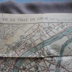 Mapas contemporáneos: ANTIGUO PLANO DE LA CIUDAD DE LIÉGE - BELGICA. PRINCIPIOS SIGLO XX. Lote 48114103