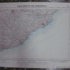 Mapas contemporáneos: MAPA SAN FELIU DE GUIXOLS.- LAMINA 366. ESCALA 1: 50000.- INSTITUTO GEOGRAFICO Y CATASTRAL 1950. Lote 48434321