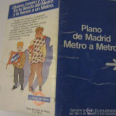 Mapas contemporáneos: MAPA PLANO METRO MADRID 1984. Lote 48443318
