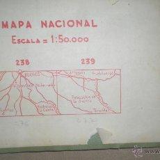 Mapas contemporáneos: MAPA NACIONAL ESCALA = 1:50.000 . 238 - 239 PROVINCIA DE BURGOS. Lote 48652675