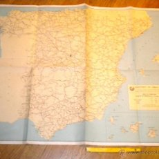 Mapas contemporáneos: MAPA DE CARRETERAS ESPAÑA 1 ABRIL DE 1961 / MINISTERIO DE OBRAS PUBLICAS 95 X 65 CND. Lote 48729421