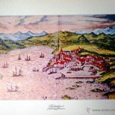 Mapas contemporáneos: SANTANDER REPRODUCCIÓN EN LAMINA DE 58 X 46 CM CARTOGRAFO. MARTIN (S. XVI) POR GEORGE BRAUM. COLOR . Lote 48817120