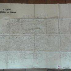 Mapas contemporáneos: PRECIOSO PLANO EN SEDA, CROQUIS PROVINCIA DE LA HABANA CUBA 1896. MEDIDAS: 116 X 80 CM. Lote 49179176