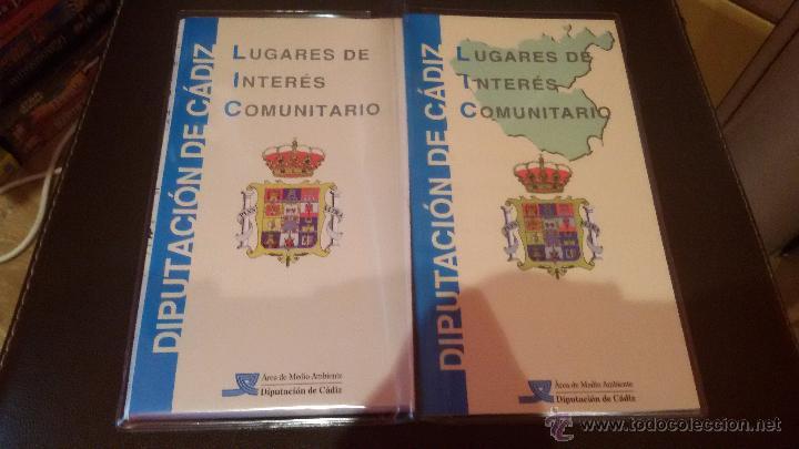 INTERESANTE LUGARES DE INTERES COMUNITARIO DIPUTACION DE CADIZ - GRAN MAPA DE CADIZ - (Coleccionismo - Mapas - Mapas actuales (desde siglo XIX))