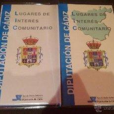 Mapas contemporáneos: INTERESANTE LUGARES DE INTERES COMUNITARIO DIPUTACION DE CADIZ - GRAN MAPA DE CADIZ - . Lote 49181712