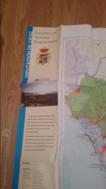Mapas contemporáneos: INTERESANTE LUGARES DE INTERES COMUNITARIO DIPUTACION DE CADIZ - GRAN MAPA DE CADIZ - - Foto 7 - 49181712